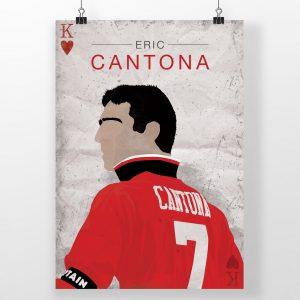 Eric Cantona – Manchester United – Poster