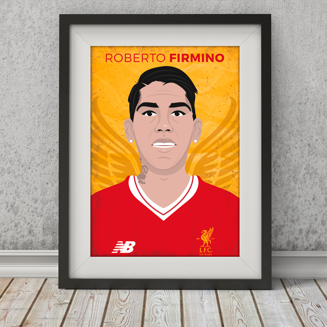 Roberto Firmino Liverpool Fc Poster Football Gifts