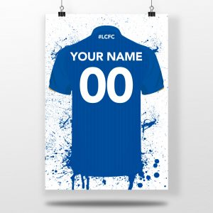 Leicester City Home Shirt – Personalised Football Shirt Poster