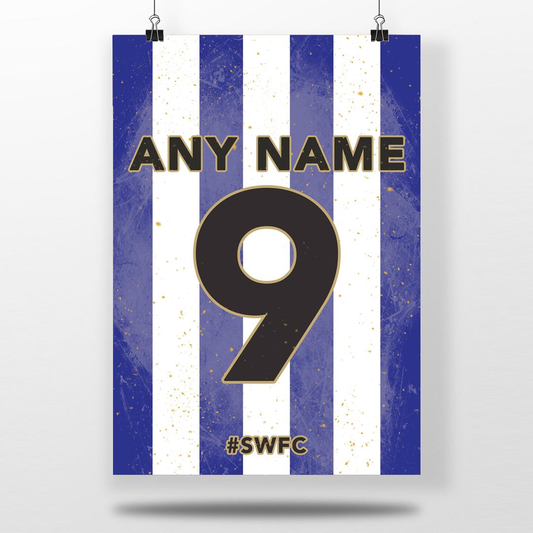 Sheffield Wednesday Fc Home Shirt Personalised Football