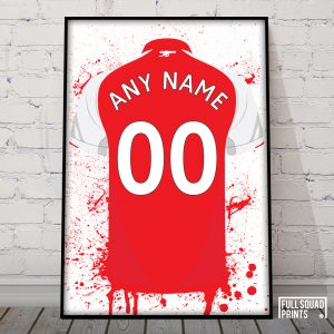 personalised arsenal poster