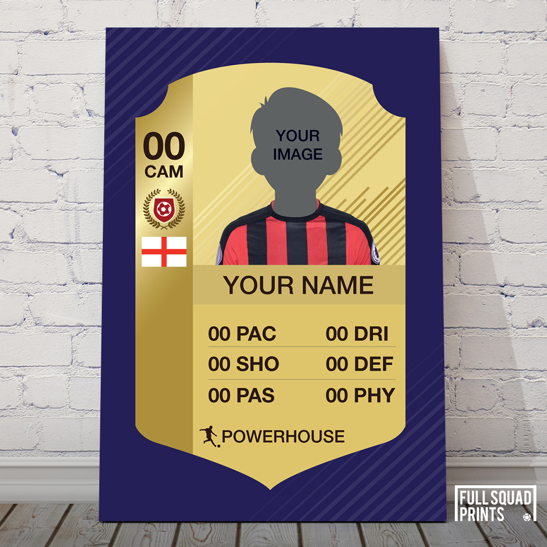 424dd5023 Personalised FIFA Card Poster | Custom FIFA Ultimate Team Card ...