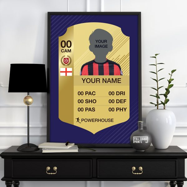 Personalised fifa card poster