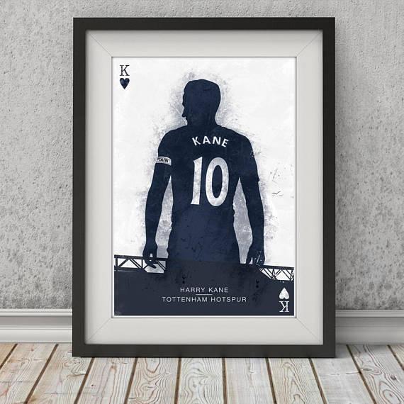 Harry Kane Poster Tottenham Hotspur Wall Art Football