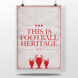 Man United Football Poster