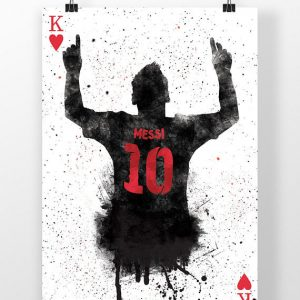 Lionel Messi Poster | King Of Hearts