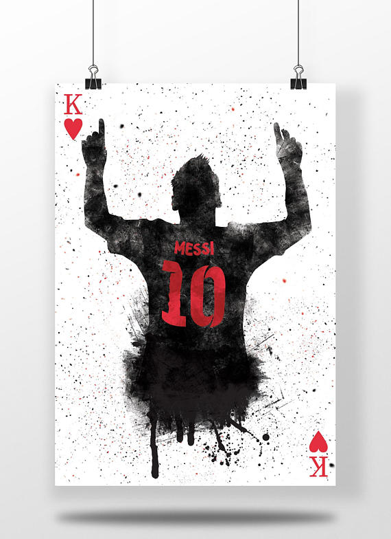 47a6f5134 Lionel Messi Poster | King Of Hearts - Football Gifts, Football ...