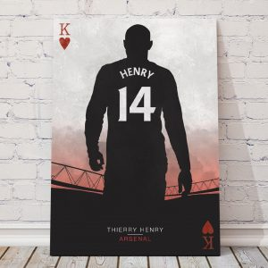thierry henry arsenal football poster