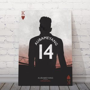 Aubameyang, The King | Arsenal football posters – football related gifts – UK