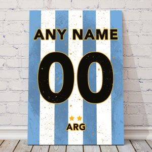 Argentina classic football shirt poster