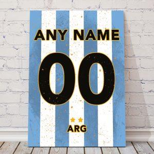 Argentina classic football shirt poster