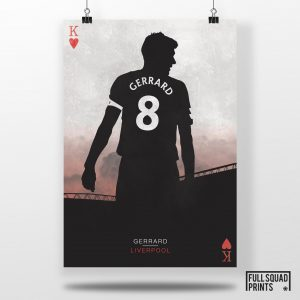 Steven Gerrard, The King | Football posters – Liverpool FC Posters