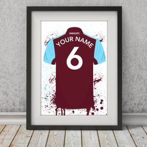 West Ham Football Posters – Personalised Football Poster – West Ham Posters (Copy)