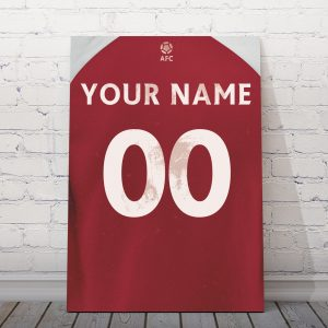 Arsenal Personalised Football Poster