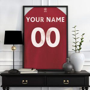 Arsenal Personalised Football Poster