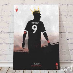 Liverpool football player posters – Firmino, The King of Hearts