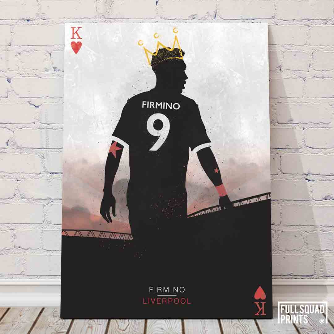 Liverpool Football Player Posters Firmino The King Of