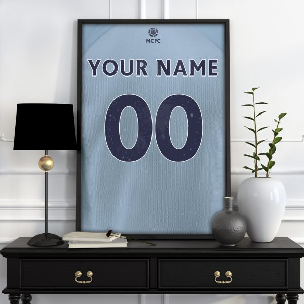 Man city personalised football poster