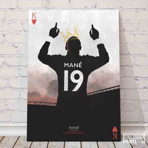 Liverpool football posters – Mane, The King of Hearts