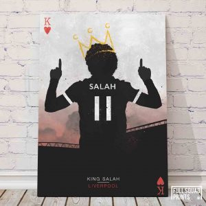 Liverpool football prints – Salah, The King of Hearts