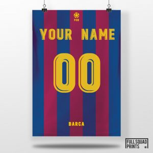 Personalised Barcelona Football Poster