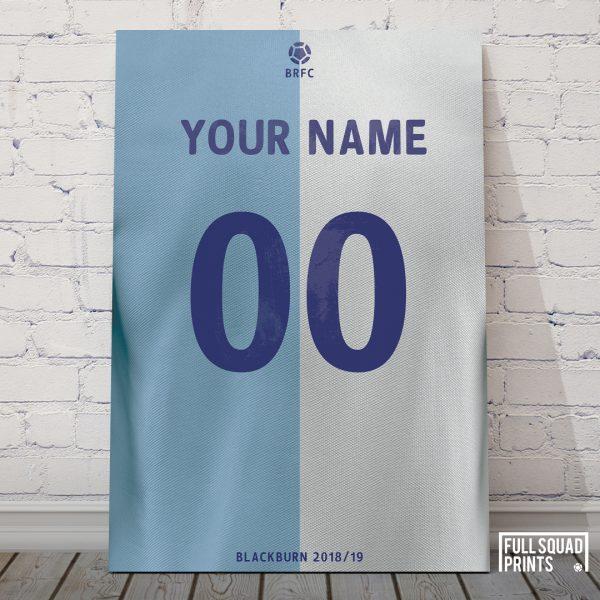 Blackburn Rovers Personalised Football Poster