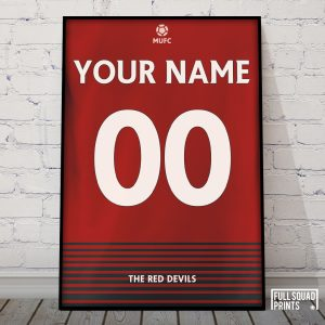 Personalised Man United Football Poster