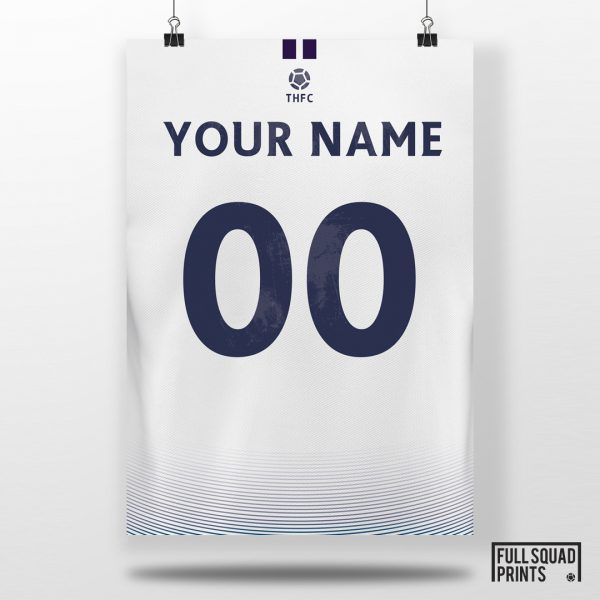 Spurs Personalised Football Poster