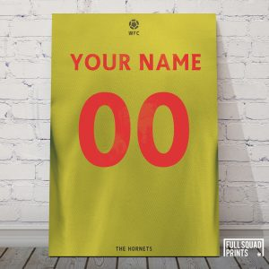 Watford Personalised Football Poster