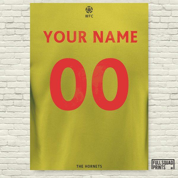 Watford Personalised Football Poster