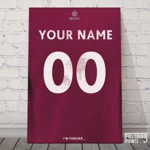 West Ham Personalised Football Poster