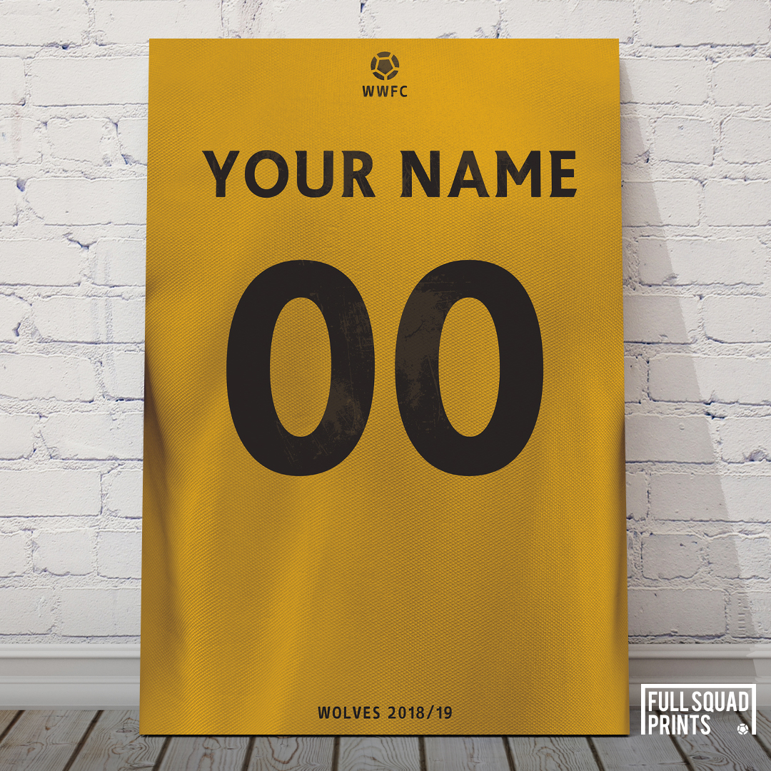 Wolves Personalised Football Prints