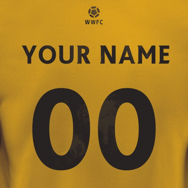 Wolves Personalised Football Poster