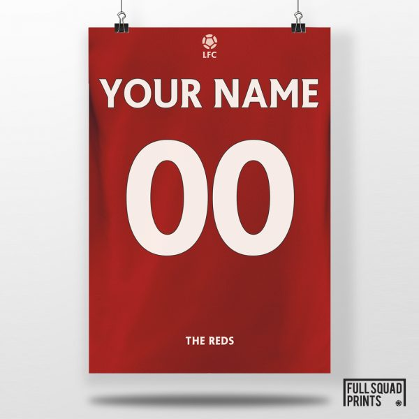 Personalised Liverpool Football Poster