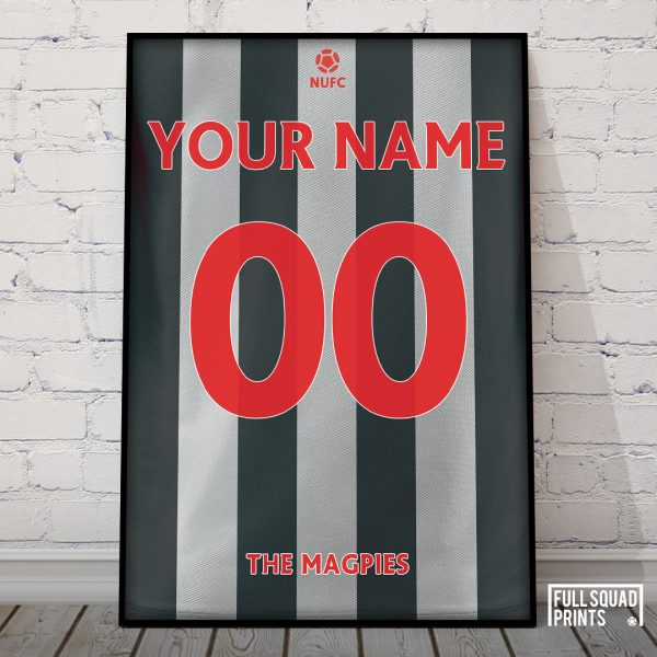 Personalised Newcastle United Football Poster