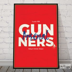 Arsenal Football Poster Wall Art