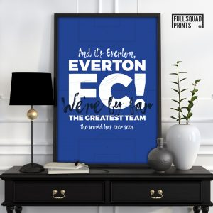 Everton Football Poster Chant