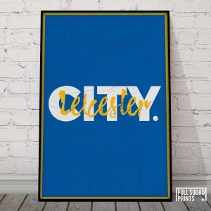 Leicester City Poster Print