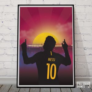 Messi football print