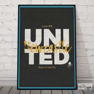 Newcastle United Football Poster
