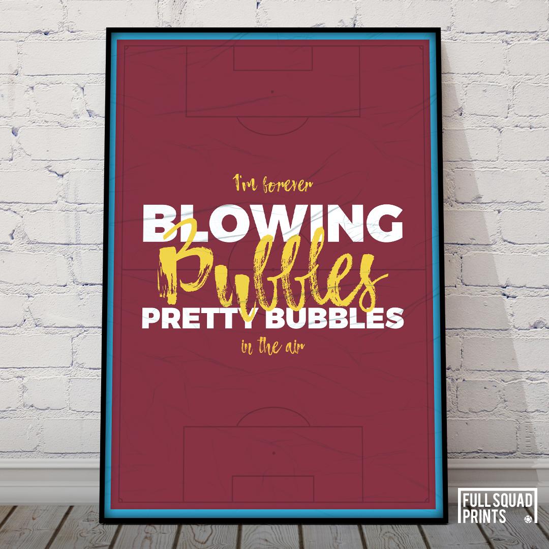 West Ham Football Poster Chant Football Gifts Football