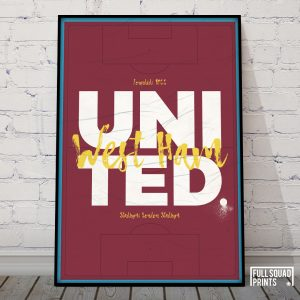 West Ham Football Poster Wall Art
