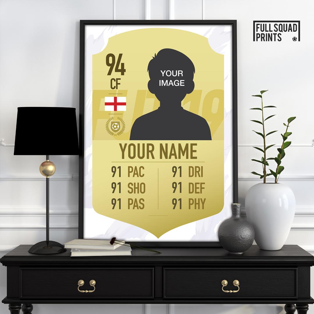personalised fifa 19 card poster  custom fifa 19 ultimate