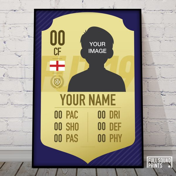 Personalised fifa 19 card poster