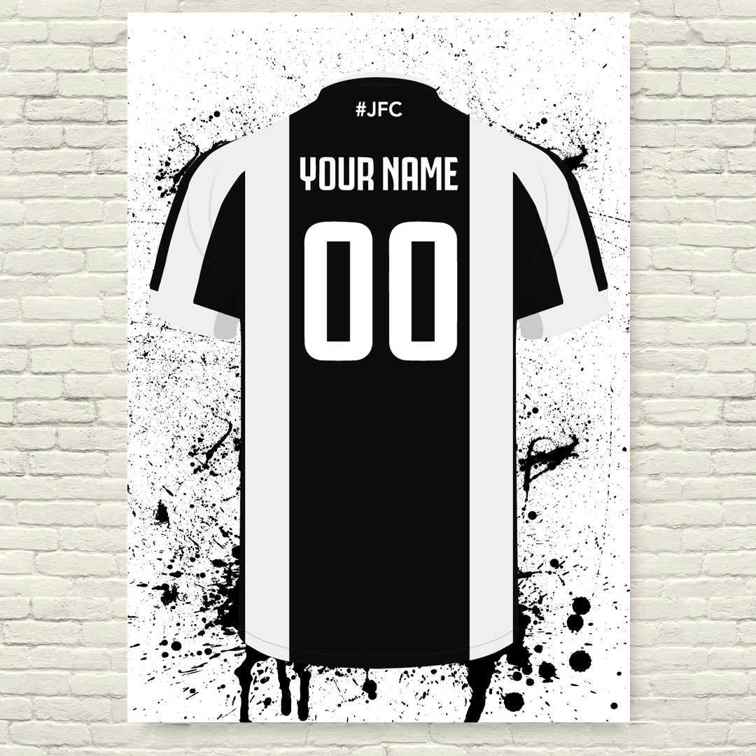 the latest a681a 9493f Juventus Football Posters - Football Posters - Personalised Football Poster