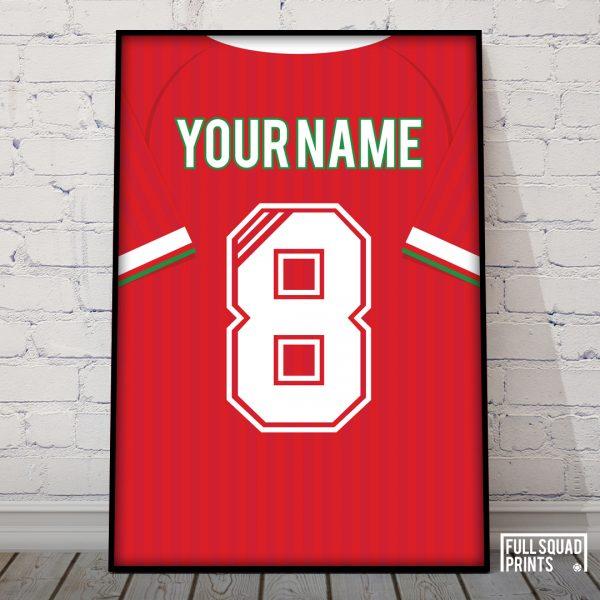 Liverpool Personalised Classic Football Print