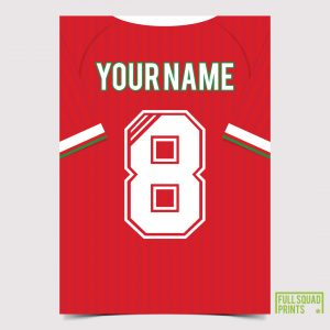 Liverpool Personalised Classic Football Print