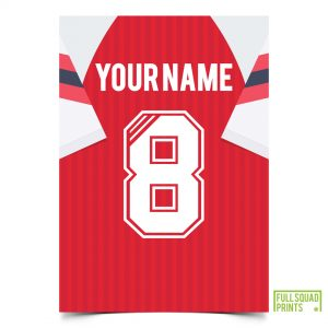 Arsenal Personalised Classic Football Print