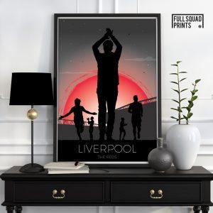 Liverpool fc Poster Sunset Print