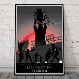 Man United fc Poster Class of 92 Print